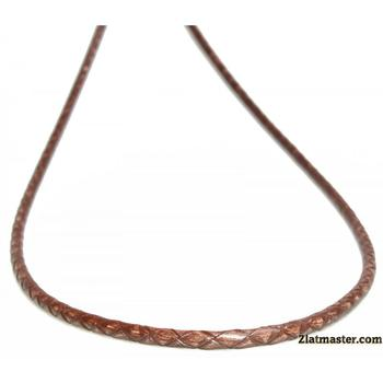 Шнурок кожаный плетеный Антиквар