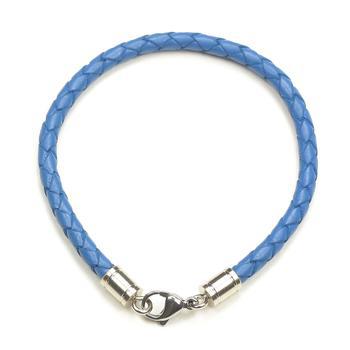Браслет плетеный цветной светло-синий