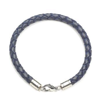 Браслет плетеный цветной темно-синий