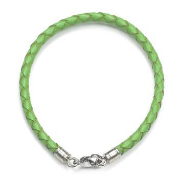 Браслет плетеный цветной зеленый