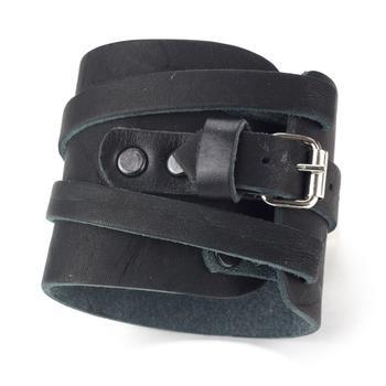 Напульсник-браслет черный